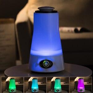 Image 3 - Humidificador de ar ultra sônico do difusor do óleo essencial 110 240 v do difusor do óleo essencial do diodo emissor de luz de essent do aroma 2.5l do umidificador de animore