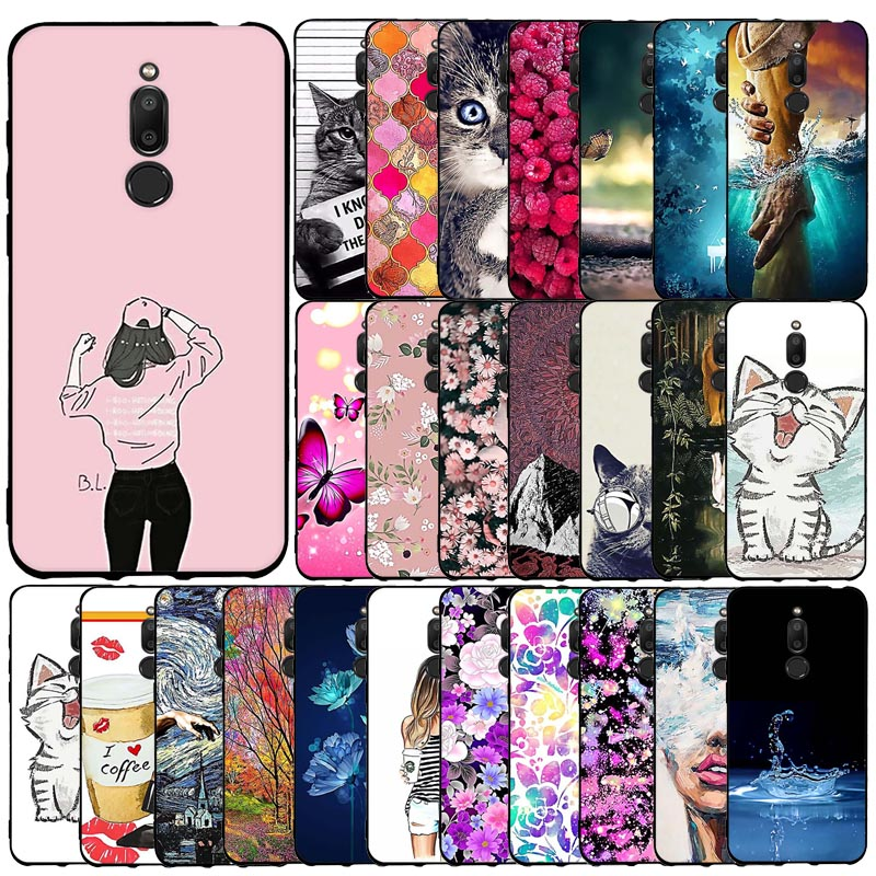 For Meizu M6T Case Flower Animal Cover Silicon Protective Bumper Case For Meizu M6T m 6t Case Bumper Shockproof Phone Case Coque