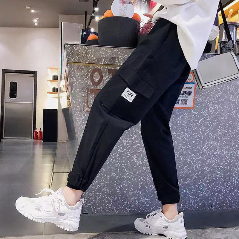 Casual Sports Multi-Pocket Tooling Pants Women Solid Color Wear-Resistant Breathable Anti-Wrinkle Comfortable