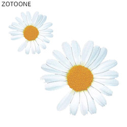 ZOTOONE Little Daisies Patches for Clothing Iron on Flower Stickers DIY Patch for Kids Heat Transfers Bag Clothes Appliqued D