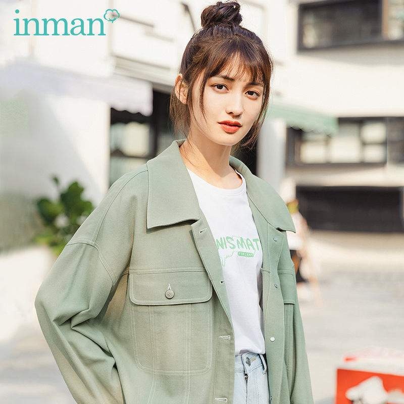 INMAN 2020 Summer New Arrival Lapel Single-breast Leisure Fashion Loose Personality Coat