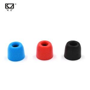 Image 2 - Nieuwe Kz Originele 3 Paar (6 Stuks) geluidsisolerende Comfortble Memory Foam Ear Tips Oorkussens Oordopjes Voor In Oortelefoon Kz AS12 Cca C10