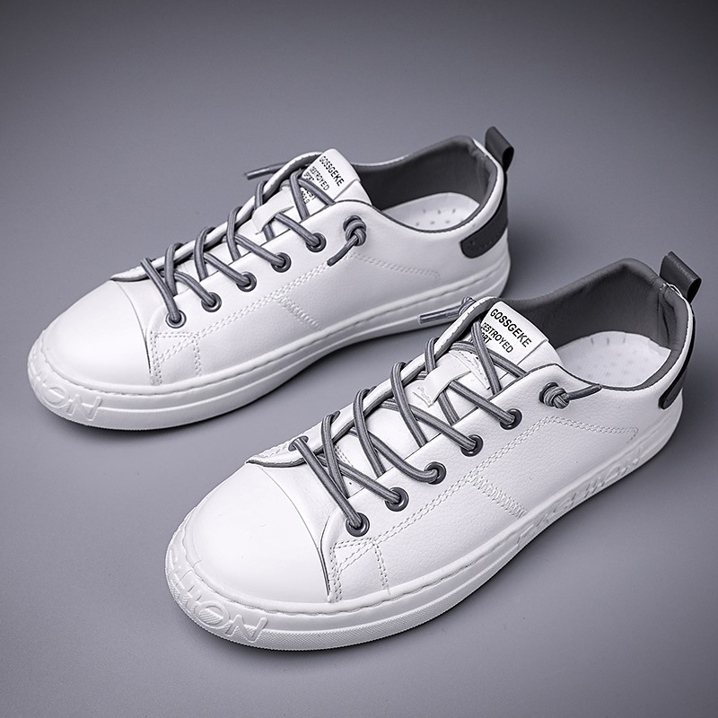 2020 Zapatos De Hombre Mens Leather Oxfords White Lace Up Student Flats Spring For Men Outdoor Sneakers  Pu Male Shoes *