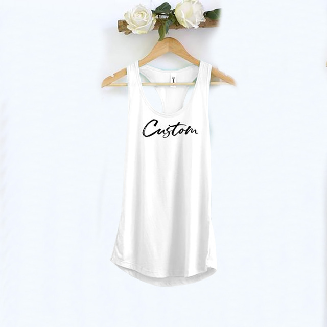 DIY customize women Tank Tops  Personalized Cusual Loose Tri-blend Sleeveless Tee Shirt 2