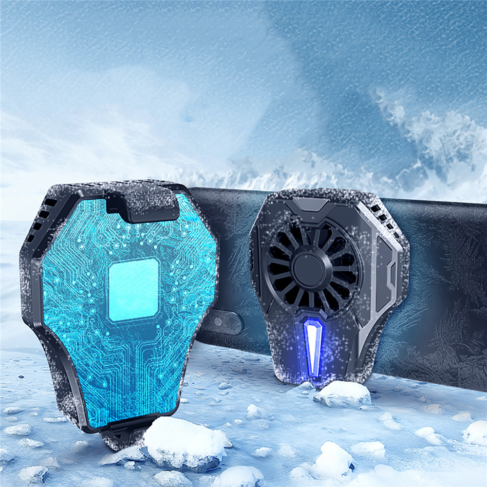 Portable Mobile Phone Cooling Fan Gamepad Mute Radiator Controller Cooler Holder for PUBG Games Phone Gaming Accessories