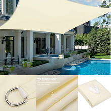 1800D Waterproof Sun Shelter Sunshade Protection Shade Sail Awning Camping Shade Cloth Large For Outdoor Canopy Garden Patio