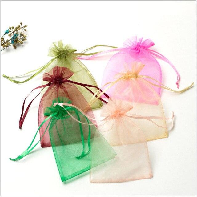 Фото 50 шт/лот регулируемая органза сумка для упаковки ювелирных цена