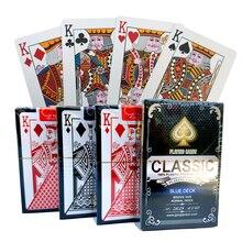 ПВХ шаблон пластиковые водонепроницаемые взрослые игральные карты игры в покер карты; настольные игры 58*88 мм карты