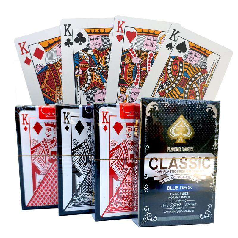 100% PVC Novo Padrão De Plástico À Prova D' Água Adulto Jogando Jogos de Tabuleiro Jogo De Cartas Poker Cards 58*88 milímetros cartões