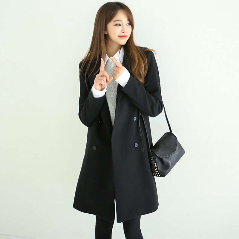 Basic Fashion Jacket Blazer Women Suit Long Sleeve Ladies Spring Brand Coats Casual Double Breasted Outwaer LX1484