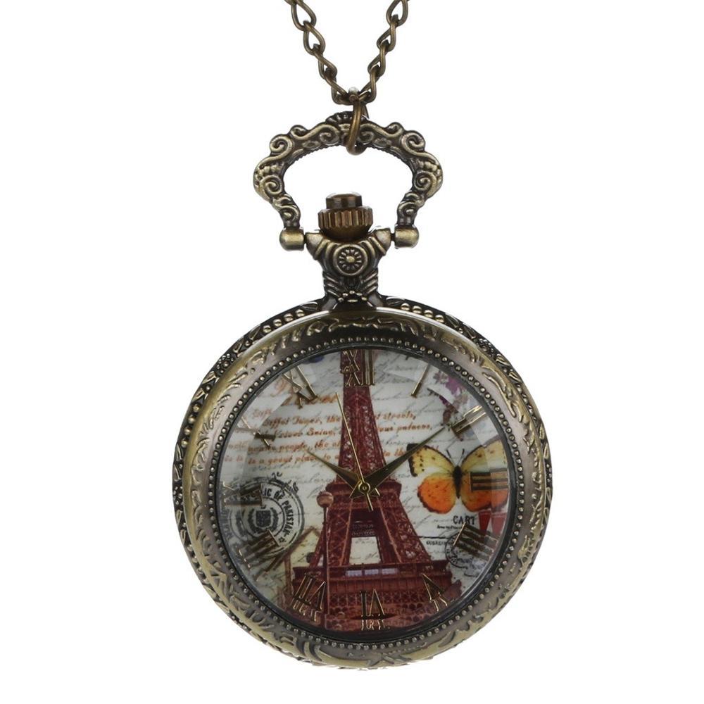Personalized Pattern Steampunk Vintage Quartz Roman Numerals Pocket Watch Watch Clock Wholesale Relogio De Bolso #4J07