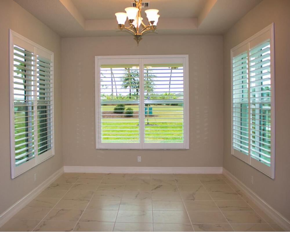 Custom Basswood Plantation Shutters Wooden Blinds Solid Wood Shutter Louvers PS290