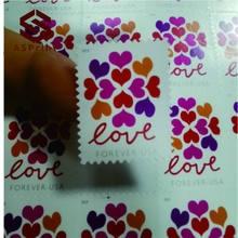 2019 Love Hearts Blossom Pane of Forever pocztowe znaczki ślubne Scott orpatriotyczne Apiral Celebration Boutonniere na zawsze