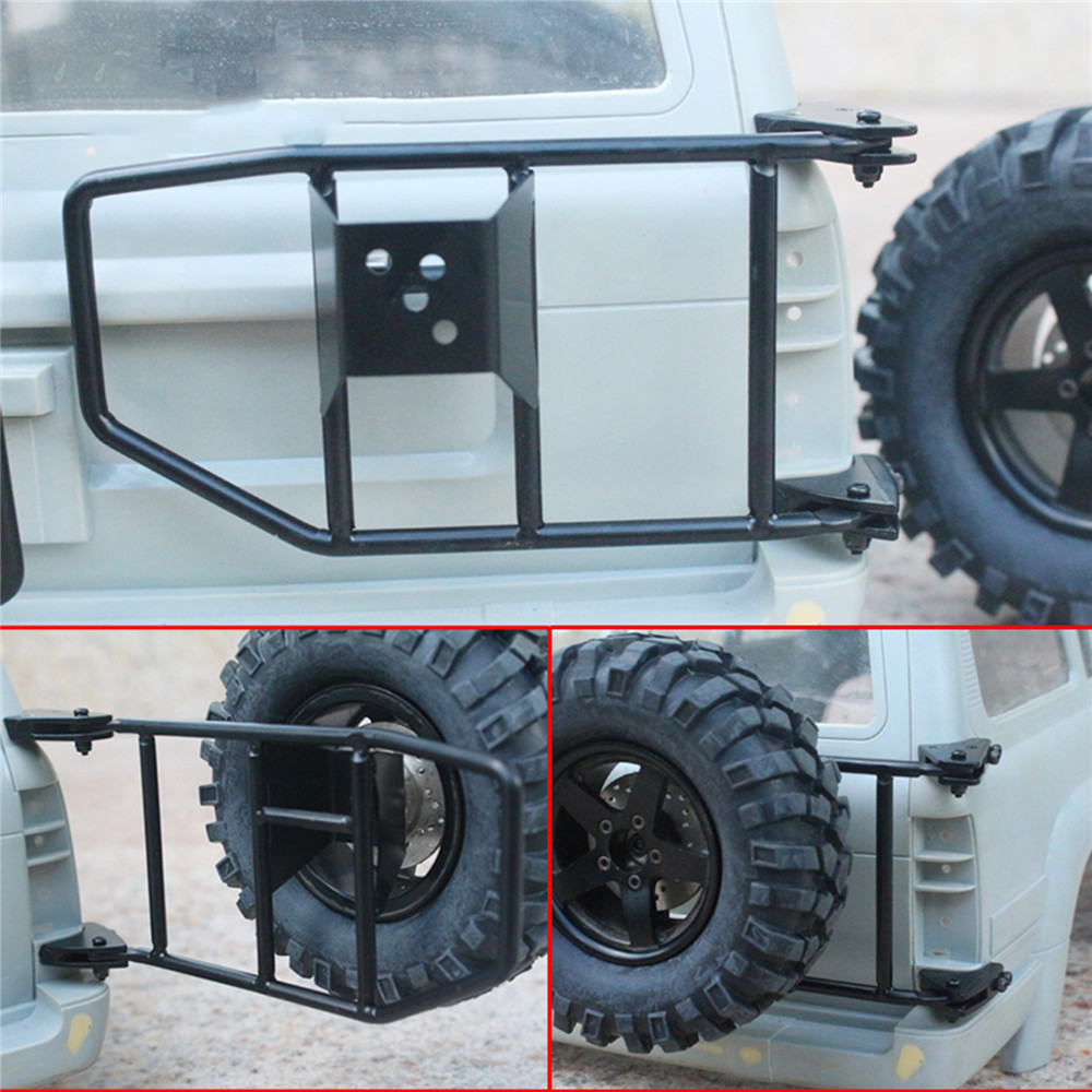 Durable Metal Spare Tire Seat Frame Simulation Climbing Car Tire Holder for 1/10 Land Cruiser LC80 RC Crawler Car Parts