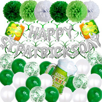 st. Patrick's day Carnival party decoration green balloon letter balloon Ireland festival party supplies Confetti balloon set