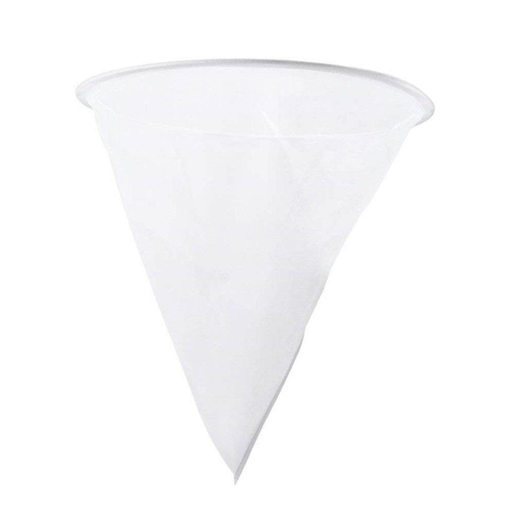 Mesh Nylon Cone-shape Honey Strainer Filter Fiber Net Single Layer White Beekeeping Tools Purifier Apiary Equipment 35cm