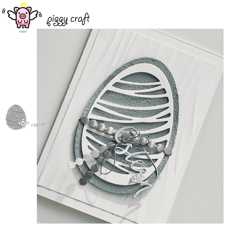 Piggy Craft Metal Cutting Dies Cut Die Mold Easter Pattern Eggs Scrapbook Paper Craft Knife Mould Blade Punch Stencils Dies