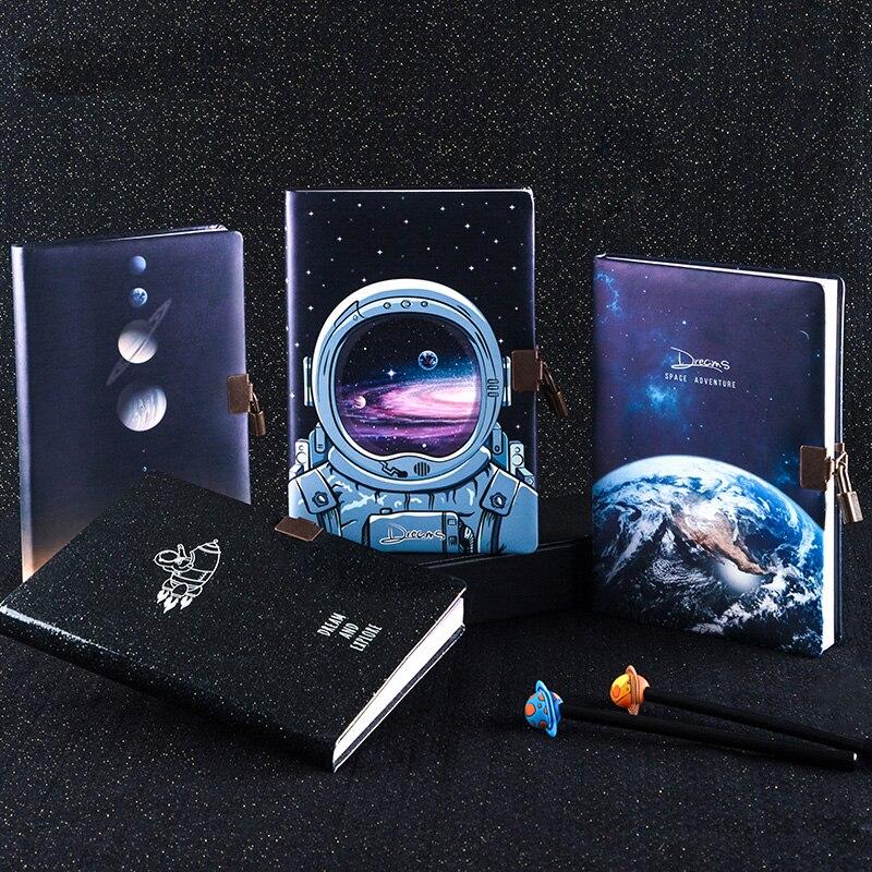 Bloc-notes A5, bloc-notes avec serrure, bloc-notes merveilleux, joli carnet de notes, manuel de voyage
