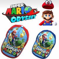1 Uds gorra de béisbol sombrero de acción de Super Mario cifras hermanos Mario Tema de impresión de Nylon accesorios transpirable chico juguete de regalo