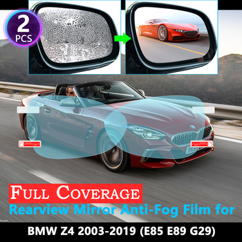 Full Cover Protective Film for BMW Z4 E85 E89 G29 2003~2019 Car Rearview Mirror Rainproof Anti-Fog film Accessories 2010 2018 image