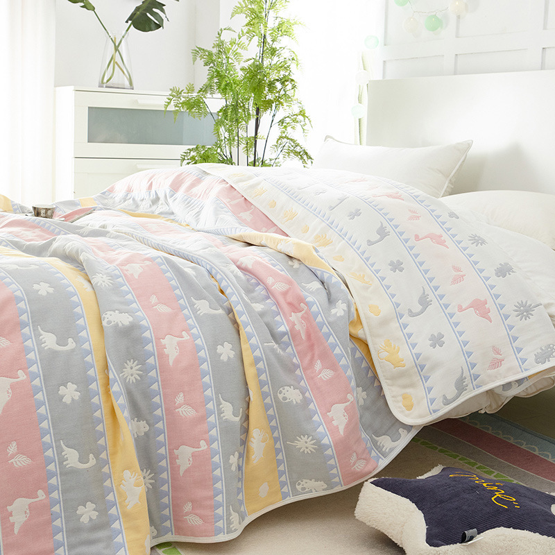 New Air Conditioning Throw Blanket Summer Cotton Blankets For Beds Office Travel Sofa Towel Quilt Super Soft Blanket Bedspread