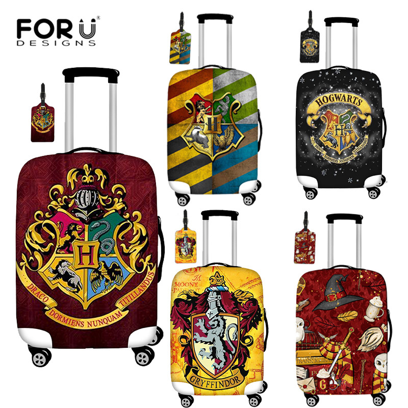 FORUDESIGNS Hogwarts Gryffindor Slytherin Luggage Cover Travel Accessories Suitcase Dust Cover Elastic Trolley Protection Cover