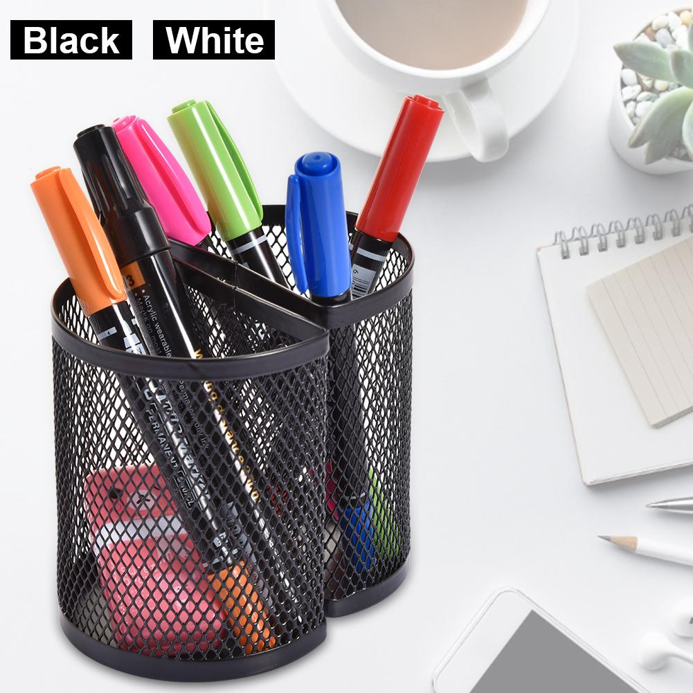 Magnetic Pen Holder For Whiteboard Refrigerator, Mesh Storage Magnetic Basket, Locker Organizer Accessories Pen Holder