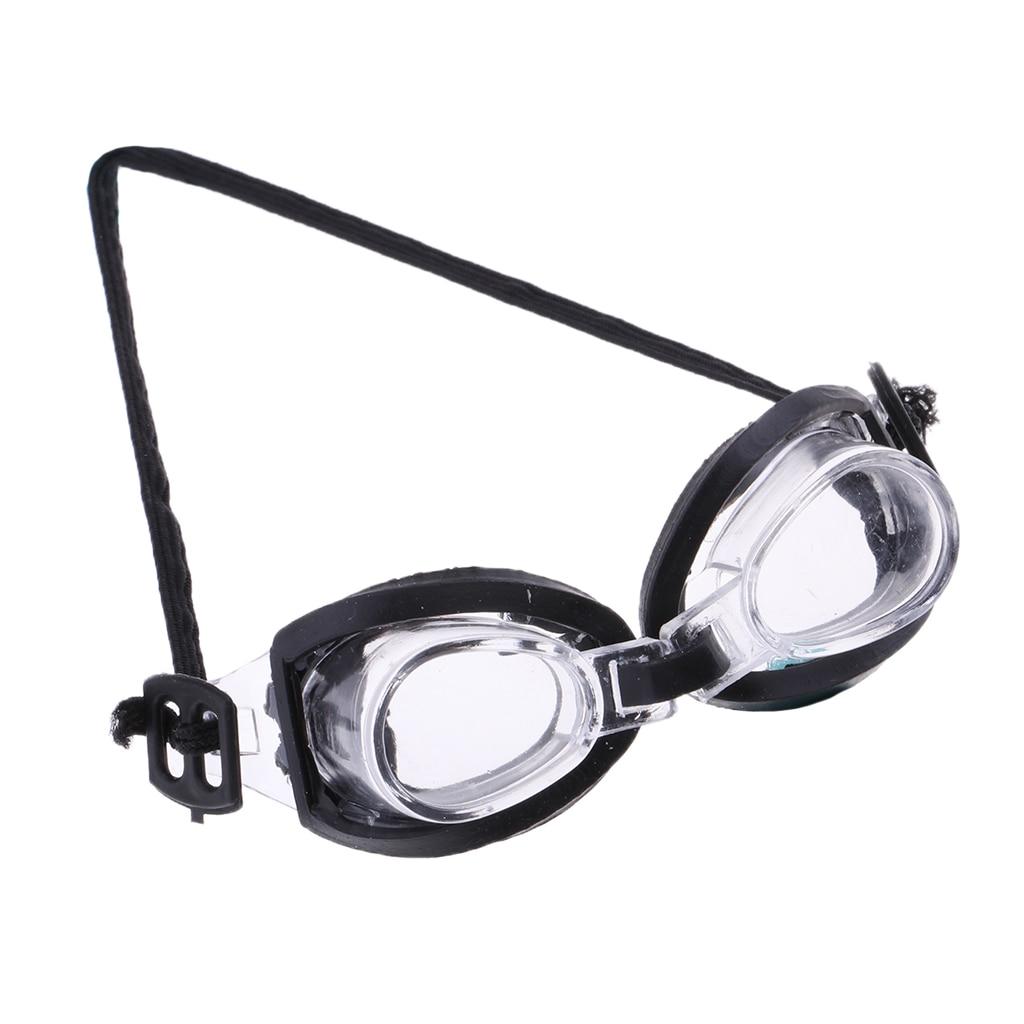 Für 1/6 Mädchen Puppe Strand Am Meer Zubehör Neue Schwimmen Brille mit Schwarz Seite