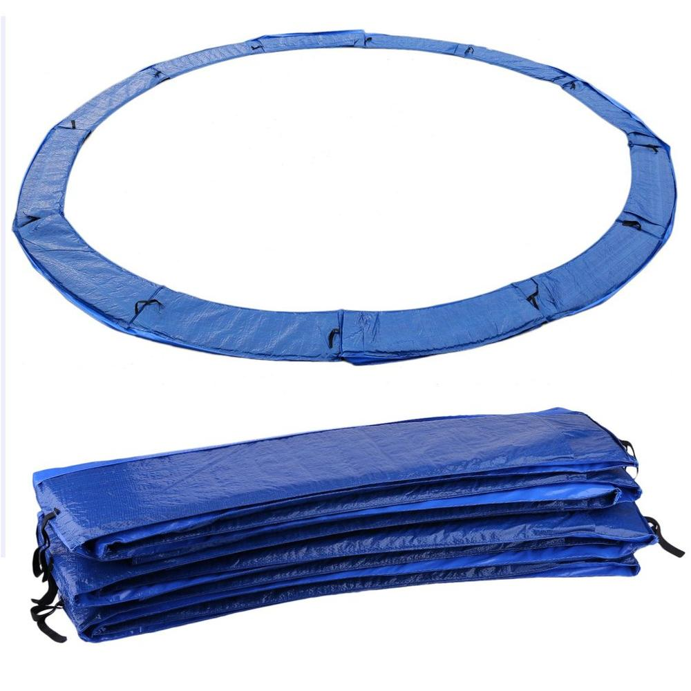 427cm/396cm/366cm/305cm Outdoor Indoor Trampoline Spring Pad Protective Cover Spring Bounce Bed Bungy Fitness Equipments Blue