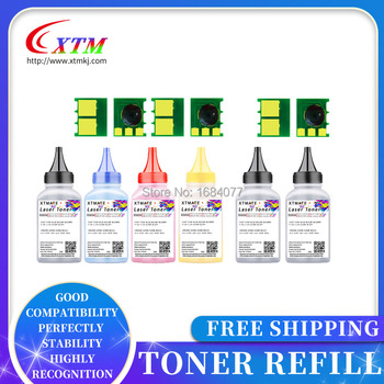 6 Toner 6 Toner 130A do drukarki hp color laserjet pro mfp m177fw M176n kaseta z tonerem CF350A CF351A CF352A CF353A proszek do napełniania tanie i dobre opinie xintemei Kompatybilny M176 M177 Wielofunkcyjna drukarka Toner proszek MFP M176n M177fw Black Cyan Magenta Yellow 40g per bottle