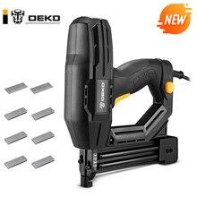 Deko novo dket02 agrafador elétrico grampeador ferramentas elétricas móveis pistola de grampo para quadro com grampos e madeira, pistola de pregos