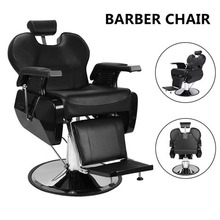 Hydraulic Barber Chair PVC Leather Professional Salon Barber Chair 8702A Modern   Hairdresser Tattoo Shaving Lift Square Barber