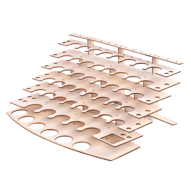 57 Holes Wooden PiGMent Bottles Storage Organizer Color Paints Stand RaCk Holder Drawing Storage Tool