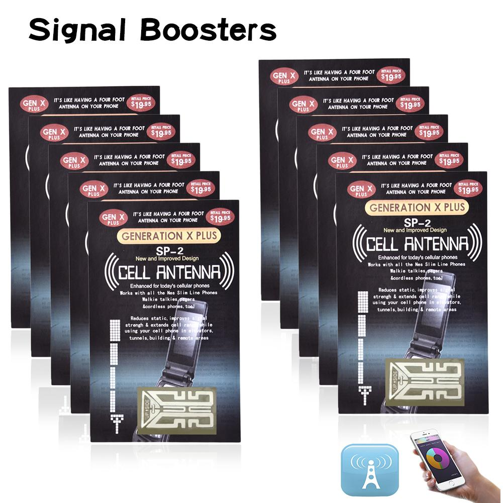 10PCS Outdoor Cell Phone Mobile Phone Signal Enhancement For Gen X Antenna Booster Improve Stickers Camping Tools