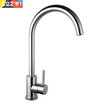 304 Stainless Steel Kitchen Faucet Environmental Water Tap 360 Degree Rotation Water Mixer Sink Tap Kitchen Faucets