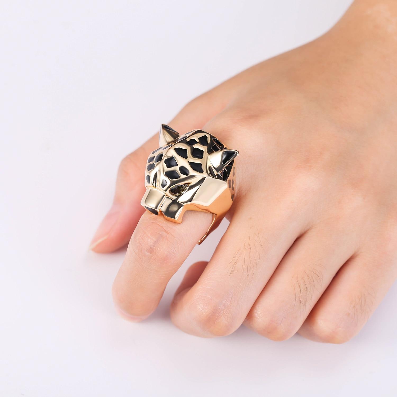 Tuliper Leopard Ring Panther Bague Cocktail кольцо Animal - Bijuterii de moda - Fotografie 3