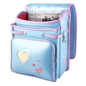Image 5 - Coulomb yüksek kaliteli çocuk kız çocuk ortopedik sırt çantası okul öğrencileri okul çantalarını japonya PU sevimli ilmek Randoseru bebek çantaları
