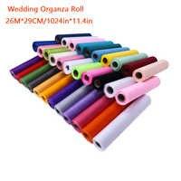 26M * 29CM Organza rouleau or tissu Table coureur chaise ceintures arc Swag 30 couleurs lDIY tissu pour fête événement décoration de mariage
