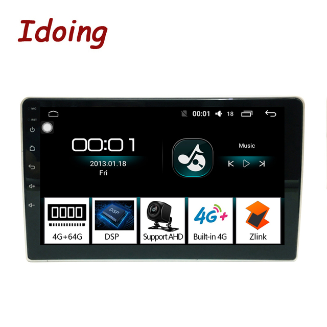 "Idoing 9 ""4G + 64G 2.5D araba Android radyo multimedya oynatıcı Peugeot 307 için 307CC 307SW 2002 2013 DSP GPS navigasyon no 2 din 4G"