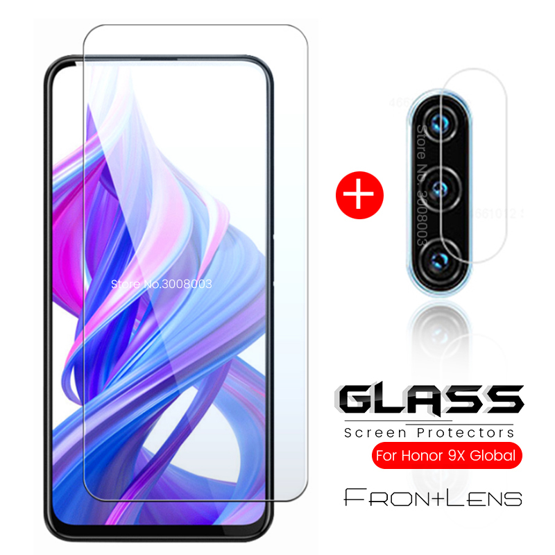 2-in-1 Honor 9x Glass Camera Glass For Huawei Honor 9x Premium/global Edition Honer X9 9 X Protective Glass On Honor9x Safe Film