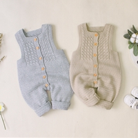 He6acf6feece34974bb5a7c31173231d7K 2019 Newborn baby boy rompers Toddler Jumpsuit Girls Candy Color Knitted Baby Clothes Infant Boy Overall Children Outfit Spring
