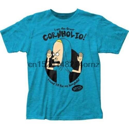 Authentic BEAVIS AND BUTT-HEAD Threatened Me Cornholio T-Shirt Grey S-3XL NEW