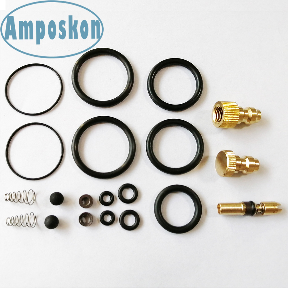 20PCS/Set PCP Pump High Pressure Air Pump Accessories Spare Kits NBR Copper Sealing O-rings 30mpa 300bar 4500psi Replacement Kit