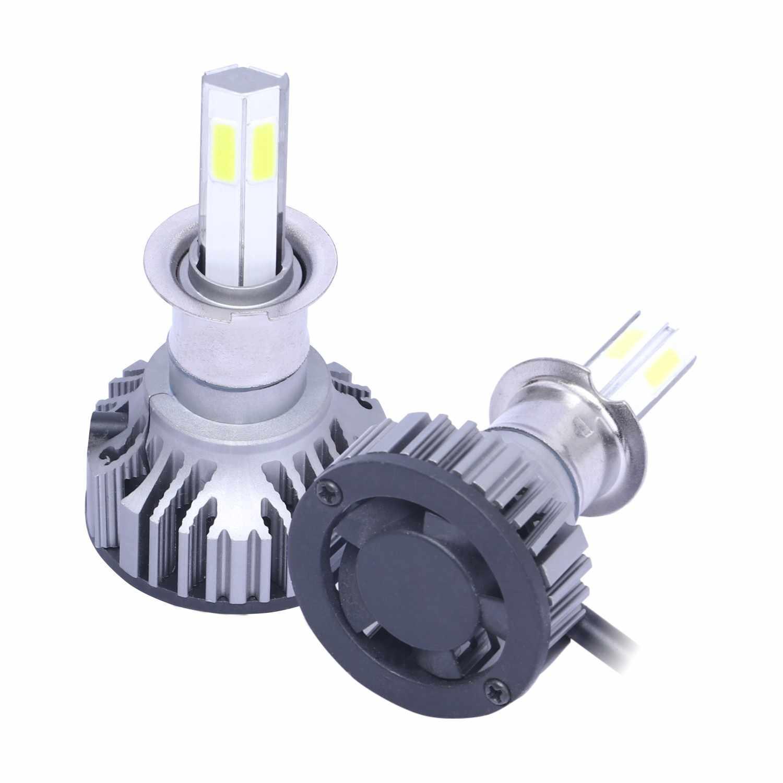 2x H3 X15-COB LED Car Front Headlight Lamp Super Bright 6500K 8000LM Waterproof