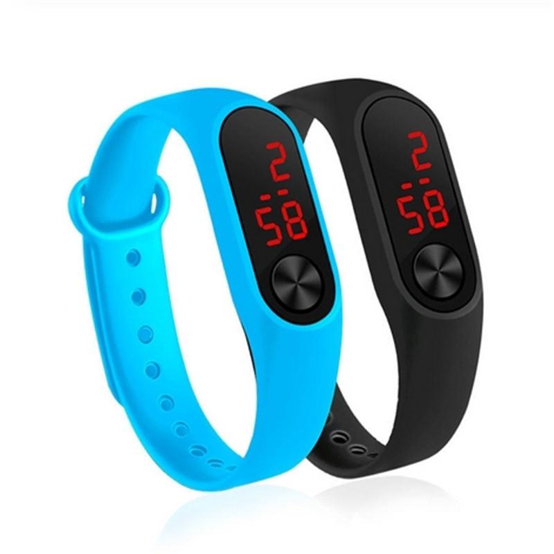 Children's Watches Kids LED Digital Sport Watch for Boys Girls Men Women Electronic Silicone Bracelet Wrist Watch #L