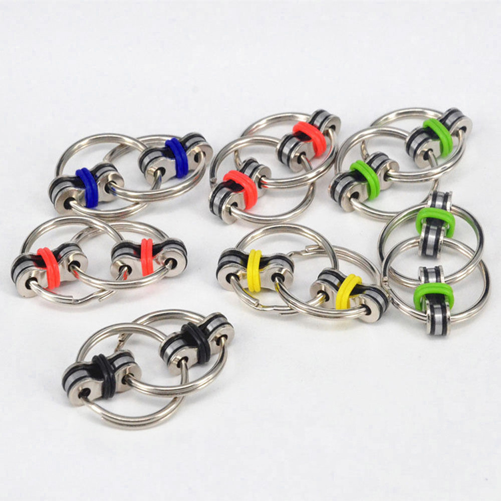 Toys Bike-Chain Fidget-Toy Autism Stress ADHD Hands Children for Funny 8-Colors Creative img2