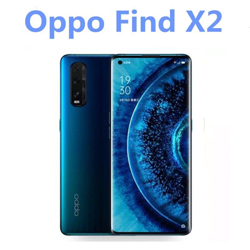"""Oppo encontrar x2 5g versão snapdragon 865 android 10.0 telefone móvel 8 gb ram 256 gb rom 65 w carregador 6.7 """"120 hz tela impressão digital"""