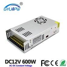 Источник питания постоянного тока 12 В 50 А 600 Вт, трансформатор для светодиодного драйвера, 220 В переменного тока, в до 12 В постоянного тока, адаптер питания для ленточных ламп, ЧПУ, систем видеонаблюдения