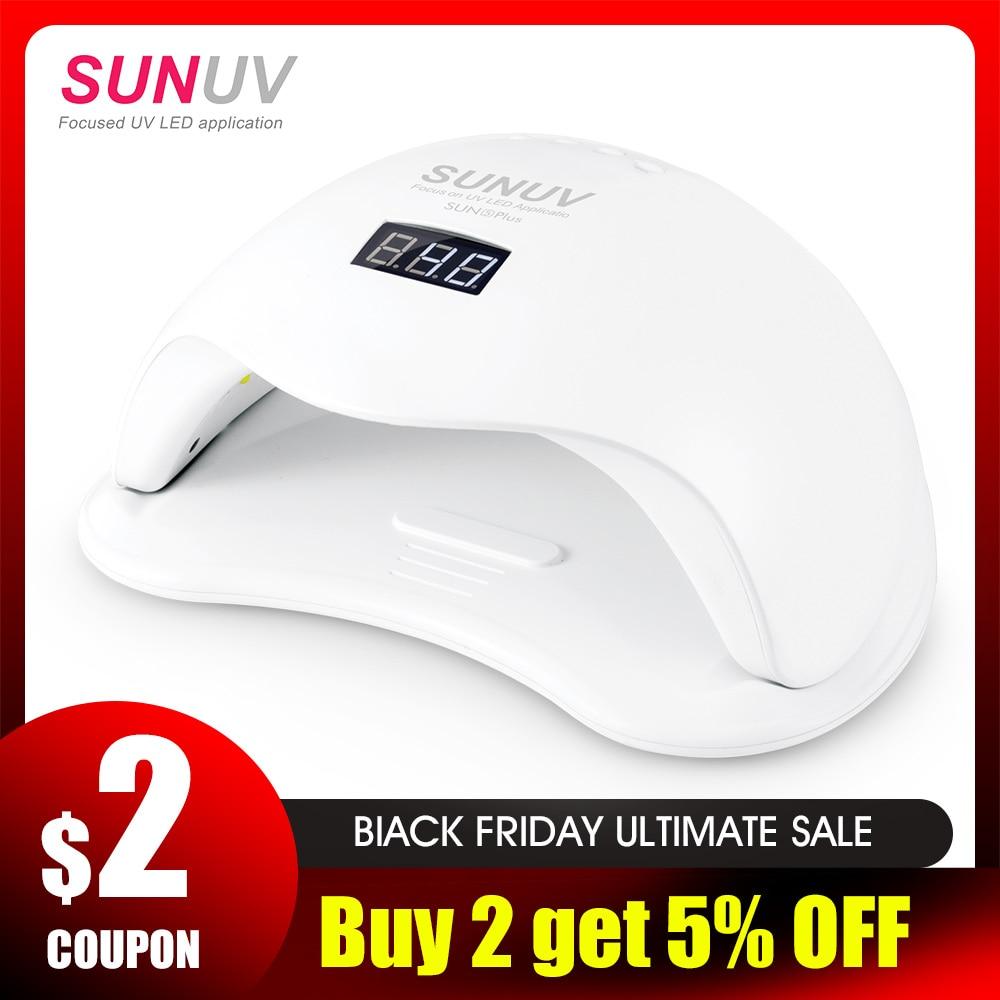 SUNUV SUN5 Plus 48W UV Licht Nagel Trockner für Alle Gele Dual Hände 36Leds Maniküre Lampe Auto Sensor boden