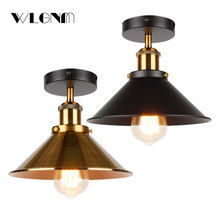 Industrial Ceiling Light vintage ceiling lamp Retro Loft ceiling lighting American country light fixtures Free shipping retro vintage industry american country fan edison ceiling plate light balcony kitchen dinning room modern home decor lighting